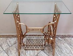 Antique Sewing Machine Table, Antique Sewing Machines, Sewing Table, Diy Furniture Fix, Upcycled Furniture, Chess Board Table, Tea Cart, My Mirror, Home Projects