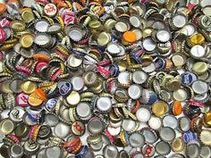 Metal bottle caps - as a craft supply for bottle cap art