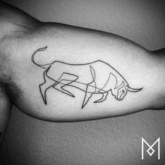 Minimal Single-Line Tattoos by Mo Ganji - UltraLinx