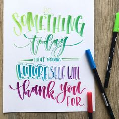 Lettering with Tombow Dual Brush Pens by @lshannondesigns