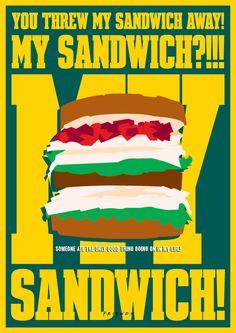 My Sandwich by Tony Cavero (KenickiE) Friends Tv Show, Ross Friends, Serie Friends, Friends Moments, Friends Season, Friends Forever, Friends Cafe, Ross Geller, Sandwiches