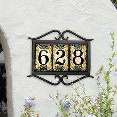 Two tone address plaque coated in copper and iron trim for Classic house number plaque