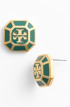 Tory Burch 'Rylan' Logo Stud Earrings | Nordstrom