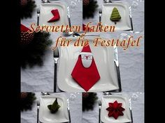 Christmas Tree Napkin Folding Tutorial # HOW TO | Handimania DIY - YouTube