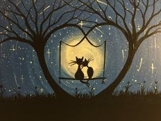 Original Whimsical Cat Painting-What can I see by MichaelHProsper