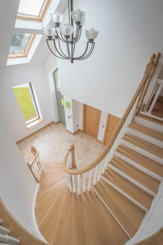 Bright and welcoming hallway! Curved Staircase, Stairs, House Design, Bright, Contemporary, Inspiration, Home Decor, Biblical Inspiration, Spiral Stair