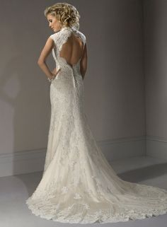 Bernadette by Maggie Sottero. Stunning back keyhole.
