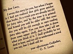 You are never too old to read a fairy tale i have a feeling he was an amazing godfather