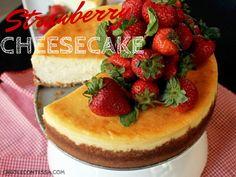 Strawberry Cheesecake with Vanilla Whipped Cream - Creole Contessa