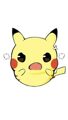 Angry Pikachu Cute Animal Drawings, Kawaii Drawings, Cute Drawings, Pikachu Raichu, Pikachu Art, Cartoon Pics, Cute Cartoon, Kawaii Art, Kawaii Anime