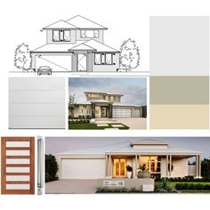 Exterior Colour Choices by ninon91 on Polyvore featuring interior, interiors, interior design, home, home decor and interior decorating