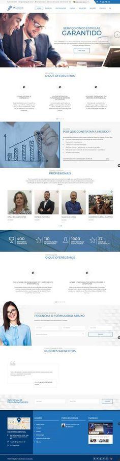Desenvolvimento de um novo site para a empresa Mgodoi Consultoria. Empresa de 25 anos no mercado de consultoria empresarial.