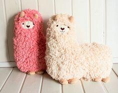 alpaca pillows from mokomoko - so cute