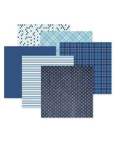 Creative Memories Denim Blue Paper Pack #creativememories #scrapbooking #paperpack www.creativememories.com