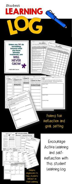Encourage active learning and self-reflection with this learning log