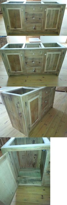 Antiques: Amish Built Unfinished Reclaimed Barnwood 60 Custom Bathroom Vanity Cabinet -> BUY IT NOW ONLY: $995 on eBay!