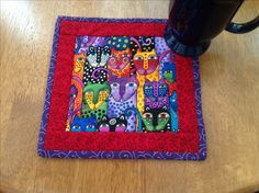 Mug rug can't open link but cute pattern. QAYG?
