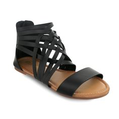 9d09e40702be Olivia Miller  Bartow  Multi Criss Cross Cross Strap Gladiator Sandals (8)