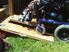 Portable Wheelchair Ramps : 7 Steps (with Pictures) - Instructables Portable Wheelchair Ramp, Portable Ramps, Manual Wheelchair, Powered Wheelchair, Handicap Ramps, Wheelchair Accessories, Travel Accessories, Mobility Aids, Mobility Scooters