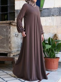 Our popular Pleated Abaya is now available in a soft cotton and rayon jersey. Contemporarily styled, thoughtfully cut, and beautifully pleated, it's the easiest, simplest, and most comfortable way to look good, modestly.