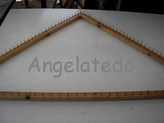 ▶ Bastidor o telar triangular, fácil de construir. - YouTube