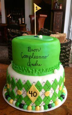 birthday celebration with a special golf inspired cake 15th Birthday, Birthday Cake, Birthday Ideas, Celebration Cakes, Birthday Celebration, Golf Themed Cakes, Fondant, Cake Decorating, Sweet Treats