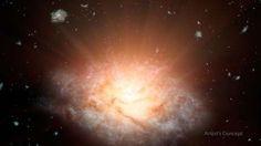 Galáxia mais luminosa do Universo é descoberta pela Nasa