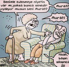 Benimle evlenmeye niyetin var mı? karikatürü :))
