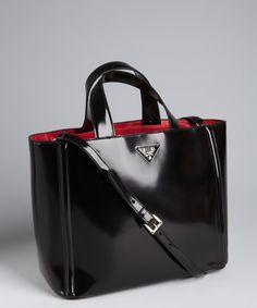 Prada. Black handbag.