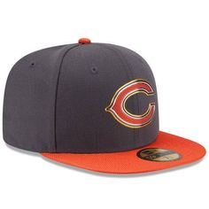 d131e4fbd244d5 Chicago Bears New Era Graphite/Orange Gold Collection On Field 59FIFTY  Fitted Hat