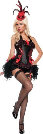 Adult Flirty Moulin Rouge Costume