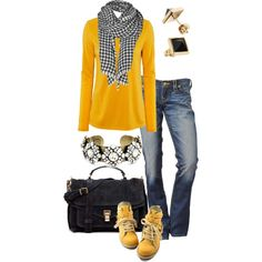 """""""T & Jeans"""" by simple-wardrobe on Polyvore"""