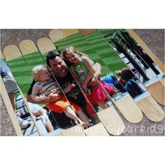 Put pictures onto Popsicle sticks for a personalized puzzle!... Good gift addition for kids!