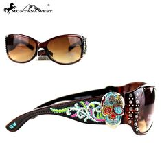 Montana West Embroidery Sugar Skull Collection Sunglasses - My Sugar Skulls