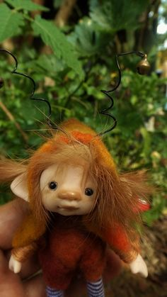 sweet ooak posable four inches tiny fairy by throughthemagicdoor
