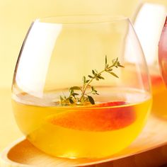 Peach-Gin Cocktail with Thyme Syrup