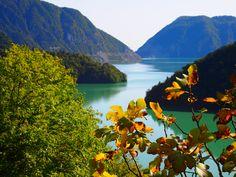Emerald lake ,by the way to Mestia ,Georgia