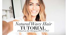 Natural Beach Waves – How to Video Everyday Hairstyles, Up Hairstyles, Natural Wavy Hair, Natural Hair Styles, Lydia Elise Millen Youtube, Natural Beach Waves, Wavy Hairstyles Tutorial, Hairstyle Tutorials, Short Grey Hair