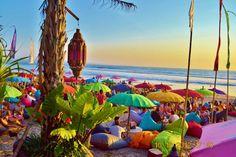 La Plancha bean bag beach, Bali