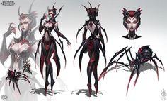 Elise The Spider Queen by ZeroNis on DeviantArt