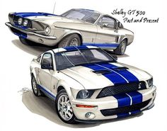 1967 and 2007 Shelby GT500 - Past and Present by Etienne Carignan