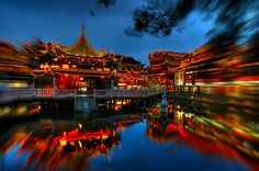 Sinorama china tours including private China tour packages for family and small group routes to Beijing, Xian, Shanghai, Guilin, Yangtze river cruise with best services. Cool Places To Visit, Places To Go, Suzhou, Hangzhou, Night City, Landscape Pictures, Chinese Culture, Study Abroad, Beautiful World