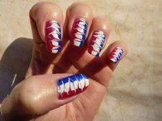 4th of july nail art | 4th Of July Needle Drag Nail Art | Flickr - Photo Sharing!