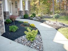 60 Stunning Low Maintenance Front Yard Landscaping Design Ideas and Remodel – Garden Landscaping ideas - How to Make Gardening Mulch Landscaping, Landscaping Supplies, Landscaping With Rocks, Front Yard Landscaping, Landscaping Ideas, Modern Landscaping, Inexpensive Landscaping, Country Landscaping, Backyard Patio
