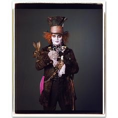 The velveteen rabbit is the pièce de résistance of  Mary Ellen Mark's photo of Depp as the Mad Hatter.