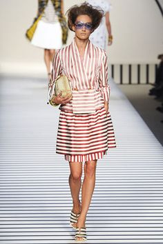 What to do with stripes... Fendi, Spring 2012 #stripes