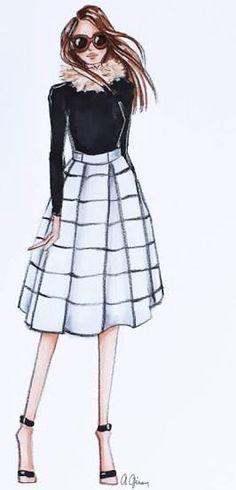 63 Ideas For Fashion Sketches Dresses Pencil Beautiful Foto Fashion, Fashion Art, Trendy Fashion, Girl Fashion, Fashion Outfits, Fashion Clothes, Style Fashion, Fashion Design Drawings, Fashion Sketches