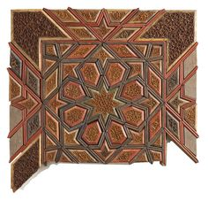 Rare wood panel from Iran