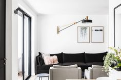 Lighting design by Asaf Weinbroom - Apartment in Tel Aviv By Pninit Sharet & Vered Bonfiglioli French Doors With Screens, Amsterdam Houses, Porch House Plans, Apartment Plans, Exterior House Colors, Scandinavian Home, Home Bedroom, Decor Interior Design, Interior Architecture