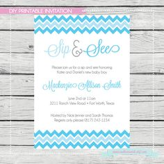 Sip and See Invitation  Digital File by SouthernSwish on Etsy, $15.00
